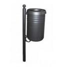 Abfallbehälter aus Stahl für Außenbereiche