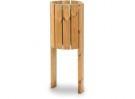 Abfallbehälter aus Holz für den Außenbereich