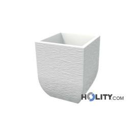 Rustikale Vase aus Polyethylen mit Licht-Option h12716