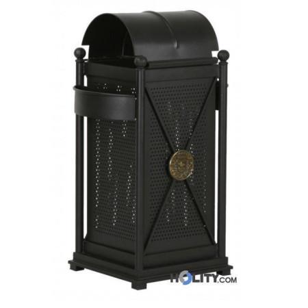 Abfallbehälter mit Regenschutz h140134