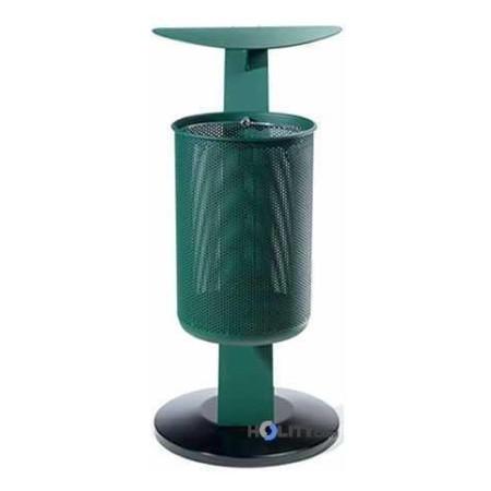 Abfallbehälter mit Dach h10933