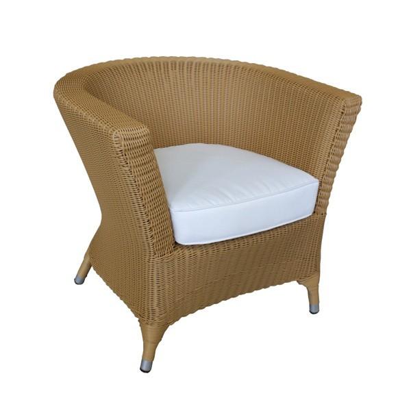 au en sessel aus aluminium mit kissen h4608. Black Bedroom Furniture Sets. Home Design Ideas
