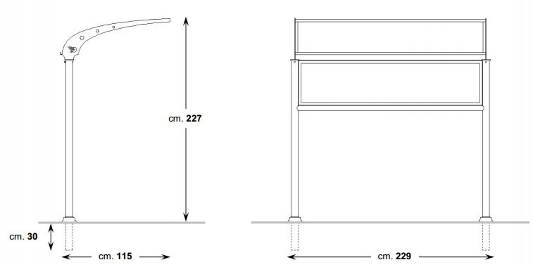 berdachung f r sitzb nke h140182. Black Bedroom Furniture Sets. Home Design Ideas