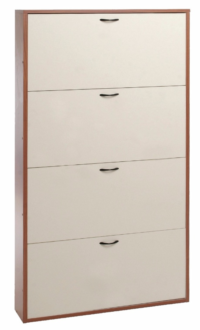 schuhschrank mit 4 t ren platzsparend h8230. Black Bedroom Furniture Sets. Home Design Ideas