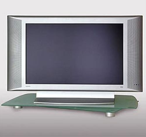 tv st nder schwenkbar geh rtetem glas h12506. Black Bedroom Furniture Sets. Home Design Ideas