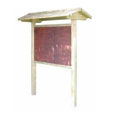 Werbe-/Infotafel aus Holz h109193