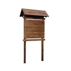 Werbetafel aus Holz für den Aussenbereich h28502