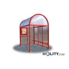 Überdachung Bushaltestelle mit Aushängekasten h28707