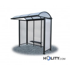 Überdachung Bushaltestelle aus Polycarbonat h28710