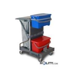 Reinigungswagen mit 2 Eimern à 22 Liter h17920