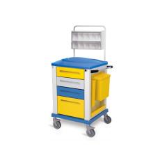 Behandlungswagen aus Edelstahl h1351