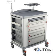Medizinischer Notfallwagen aus Stahl h1353