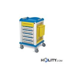 Medikamentenwagen aus Stahl h1354