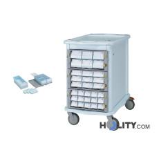 Zweiseitiger Medikamentenwagen h1355