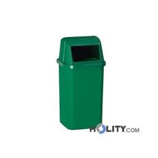 Abfallbehälter aus Kunststoff als Stadtmobiliar h8634