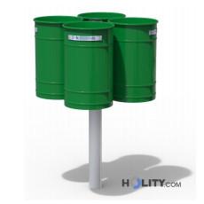 Abfallbehältersystem mit RAL-Farbbeschichtung h140127