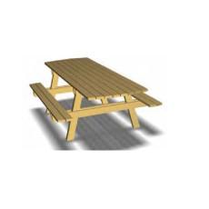 Picknick Tisch inkl. Bänke mit Holzlatten h109218