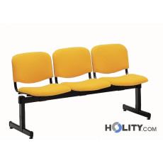 Feuerfeste Sitzbank für Wartesaal mit 3 Plätzen h34402