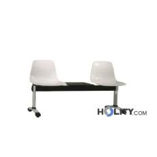 Sitzbank mit Tisch für Wartezimmer h34405