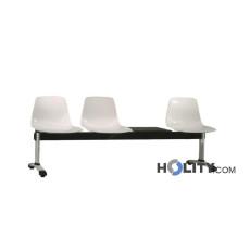 3er-Sitzbank mit Tisch für Wartezimmer h34406