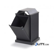 Großer Abfallbehälter mit 96 Liter Volumen h35009