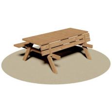 Set Picknick Tisch mit klappbaren Bänken h35020