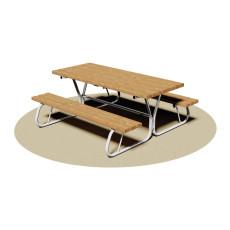 Set Picknick Tisch mit Bänken h35021