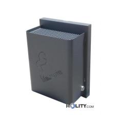Aschenbecher für den Aussenbereich aus Stahlblech h28725