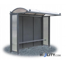 Überdachung Bushaltestelle aus Polycarbonat h28737