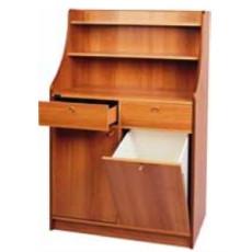 Hohe Kellnerstation, 2 Schubladen und Auffangbehälter - h09167