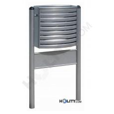 Stahl-Abfallbehälter mit Werbefläche h140105