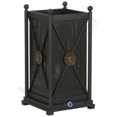 Stand-Abfallbehälter mit Lochoptik h140135