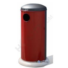 Farbiger Abfallbehälter mit Betonsockel h140145