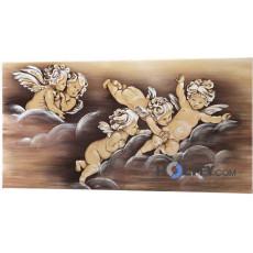 Dekoratives-Bild-mit-Relief-Effekten-und-Silberfolie-h11954