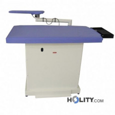 Tavolo da stiro termoaspirante professionale compatto con braccio aspirante h13233