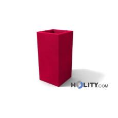 Vaso alto rettangolare in polietilene con opzione luce h12705