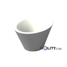 Vaso di design in polietilene con opzione luce h12702