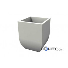 Vaso in polietilene liscio con opzione luce h12715