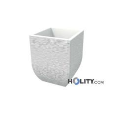 Vaso in polietilene rustico con opzione luce h12716