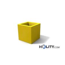 Vaso rettangolare in polietilene con opzione luce h12706