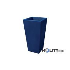 Vaso rettangolare liscio in polietilene con opzione luce h12703