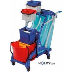 Reinigungswagen aus Kunststoff h0904