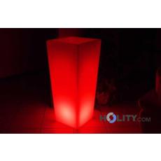 Vaso luminoso quadrato multicolor h10407