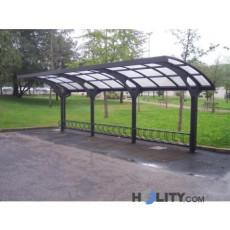6-Plätziger-Fahrradständer-mit-Schutzdach-h109172