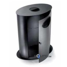 Stand-Abfallbehälter mit Ascher h10931