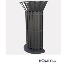 Abfallbehälter mit Stahlverkleidung h10963