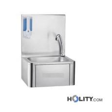 Handwaschbecken mit Kniebedienung Edelstahl h11005