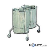 Doppelter Wäschewagen für Krankenhaus h1363