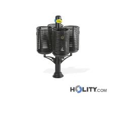 Design-Abfallbehältersystem aus Stahl h140104