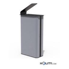 Metall-Abfallbehälter mit Schutzdach h140138